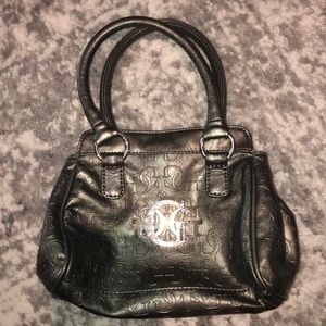 "Gunmetal Gray, Small Guess purse, approx 9"" x 7"""